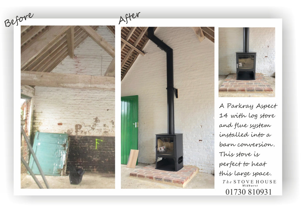Barn conversion underway - how are you going to heat that large space?