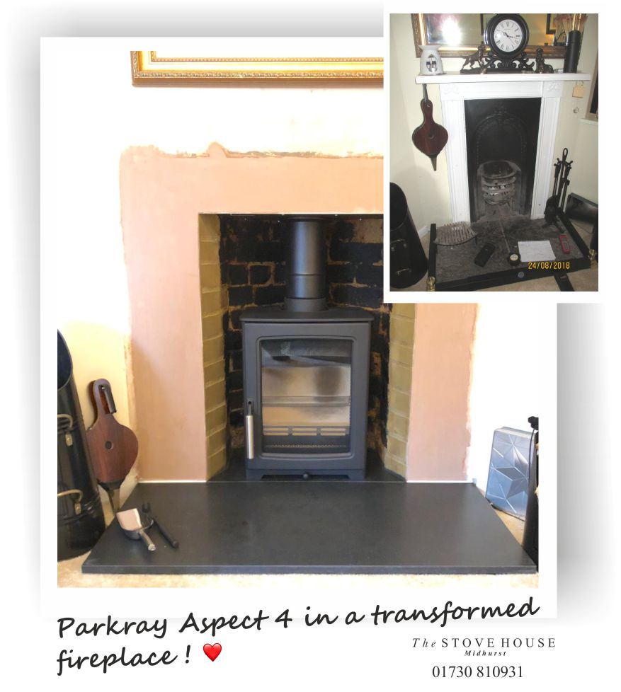 Opening up a fireplace and installing a Parkray Aspect Woodburing Stove - By The Stove House