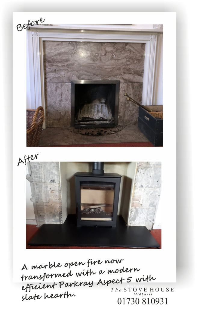 Parkray Aspect 5 Woodburning Stove Before & After Pictures
