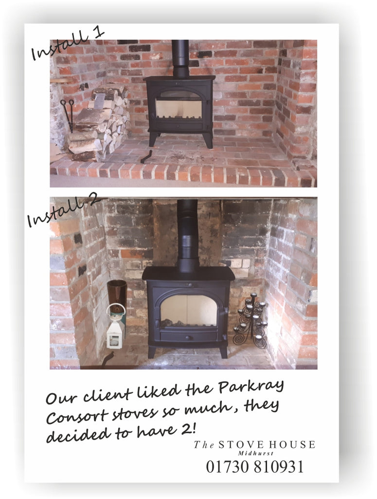 Double Parkray Consort Stove Installation: Slimline 5 & Slimline 7 By The Stove House