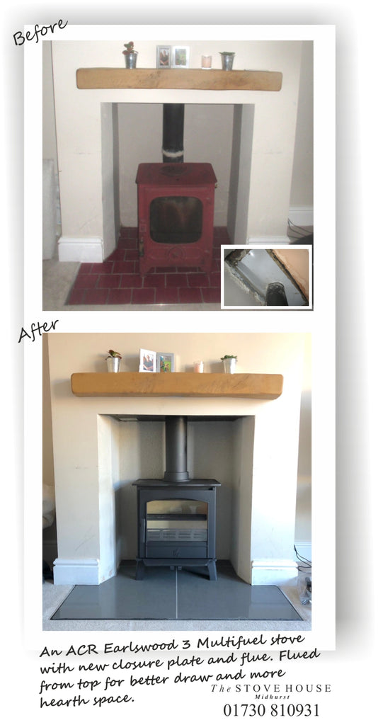 ACR Earlswood 3 Multifuel stove just installed into its new home