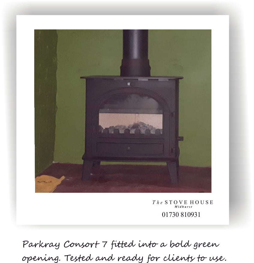 Hunter Parkray Consort 7 Woodburning Stove - Supplied & Fitted by The Stove House