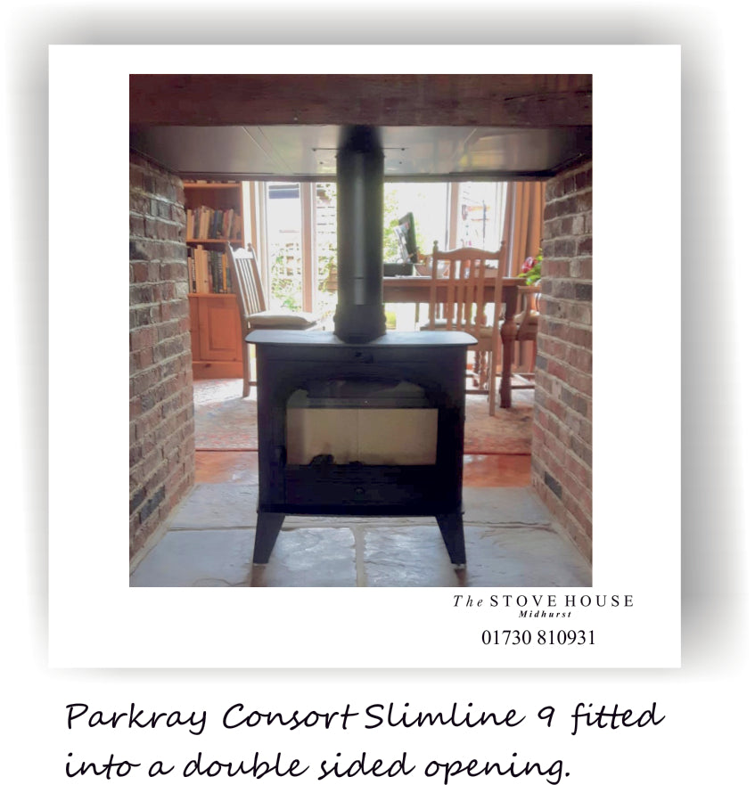 Parkray Consort slimline 9 supplied and installed by The Stove House 01730 810931