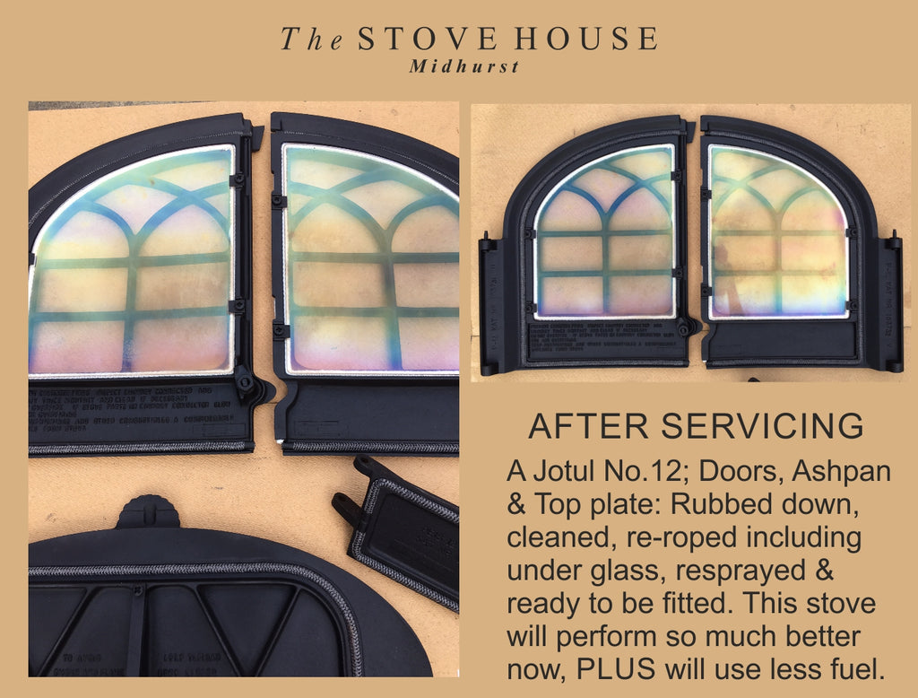 Woodburning Stove Maintenance / Door Service = Stove Facelift!
