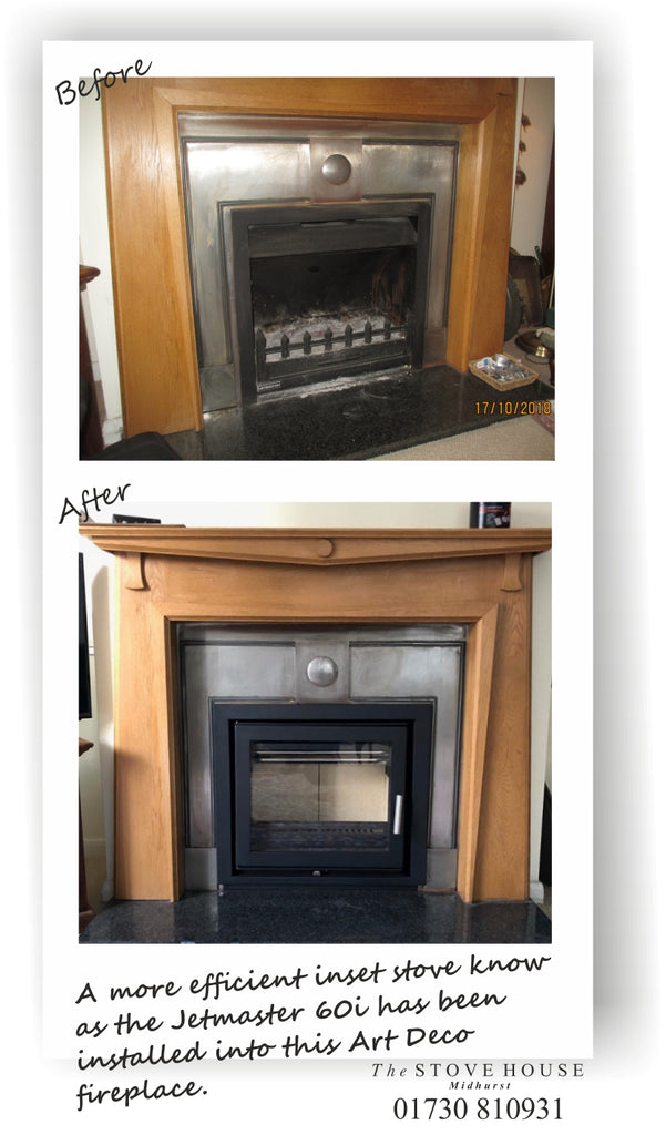 Jetmaster Inset 60i Woodburning Cassette Stove: Before & After Installation Pictures