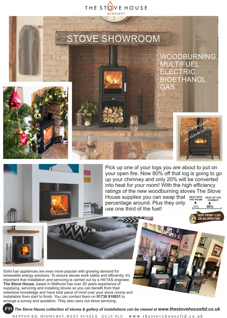 The Stove House your local woodburner showroom with live displays and fireplace accessories. 01730 810931 for West Sussex, Surrey & Hampshire
