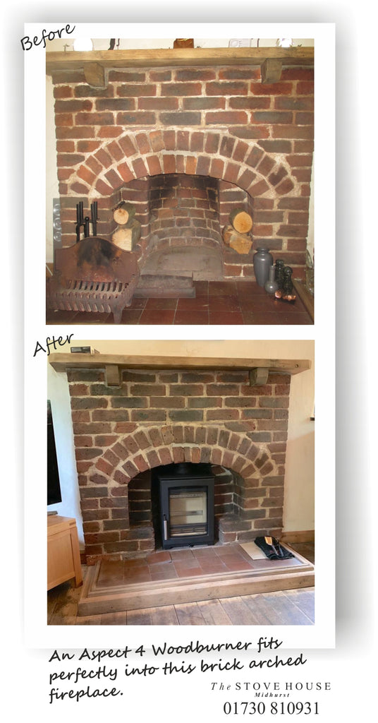 Parkray Aspect 4 woodburner stove installation supplied by The Stove House your local stove shop in West Sussex 01730 810931