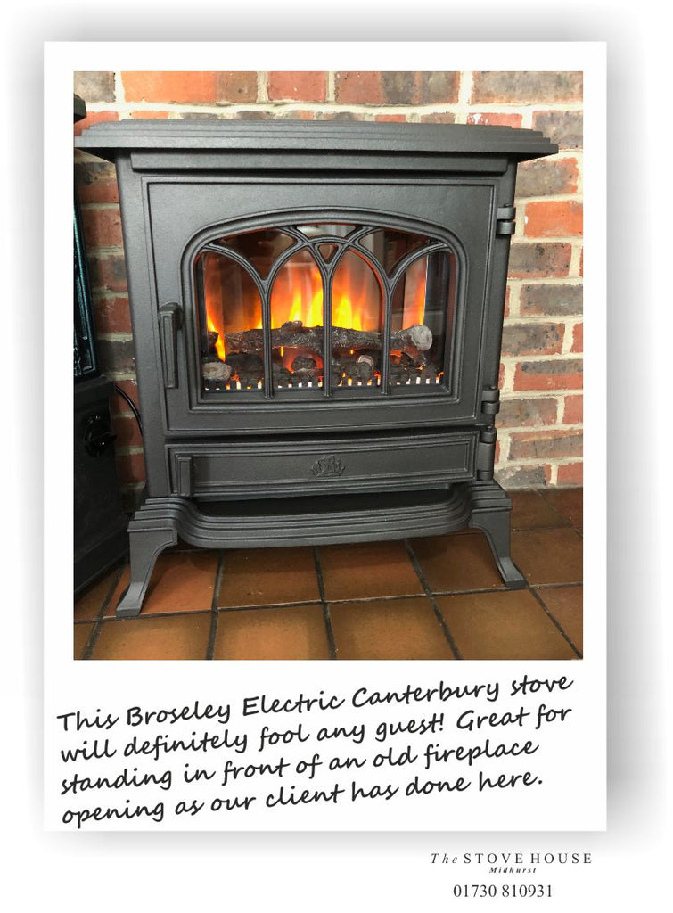Broseley Canterbury Electric Flame Effect Woodburning Stove