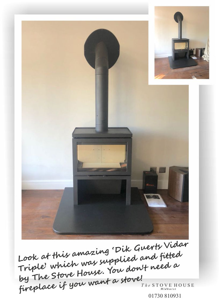 Dik Guerts Vidar Triple Woodburning Stove Supplied and installed by The Stove House