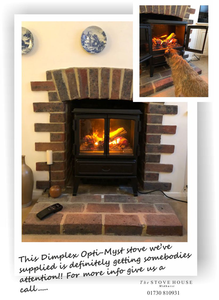 Dimplex Opti-myst Oakhurst Electric Woodburning Stove In Its New Home!