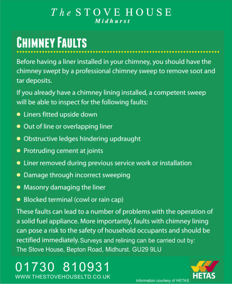 Common Chimney & Flue Liner Faults