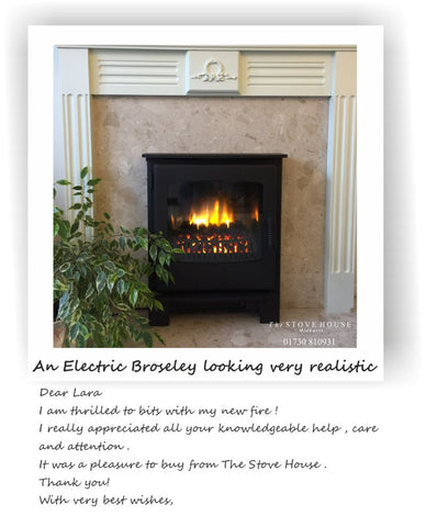 Broseley Desire Inset Electric Stove at The Stove House 01730 810931