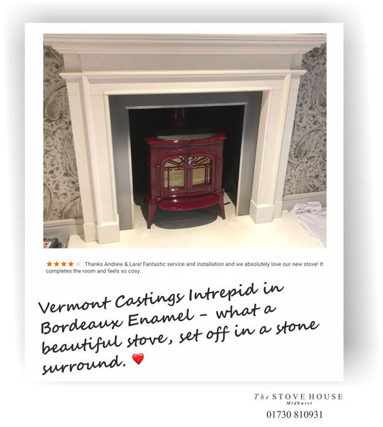 Vermont Intrepid in Bordeaux Supplied and installed by The Stove House 01730 8109310
