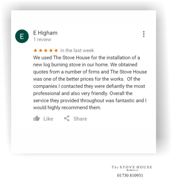 Customer review for The Stove House
