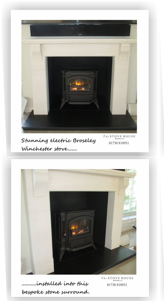 Broseley Winchester electric stove supplied and fitted by The Stove House 01730 810931