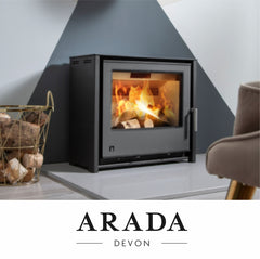 Arada Stoves such as the Farringdon Ecoburn Ecoboiler Holborn & Lagom models at The Stove House in Midhurst nr Petersfield Chichester Haslemere Pulborough Petworth fitting installation & surveys in West Sussex Surrey & Hampshire