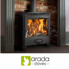 Arada Stoves such as the Farringdon i600 slimline Ecoburn plus range Puffin Heron Chelsea models at The Stove House in Midhurst nr Petersfield Chichester Haslemere Pulborough Petworth fitting installation & surveys in West Sussex Surrey & Hampshire