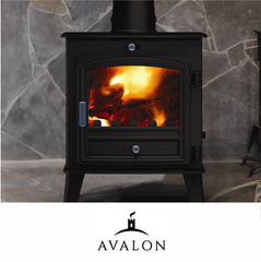 Avalon stoves such as the 4 5 6 8 slimline and double sided fire options made by Hunter sold by The Stove House in Midhurst nr Petersfield Chichester Haslemere Pulborough Petworth fitting installation & surveys in West Sussex Surrey & Hampshire