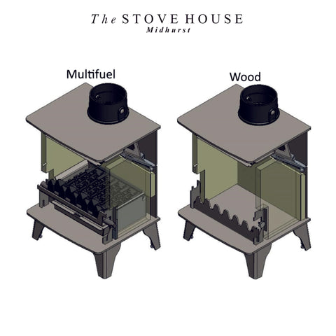 The difference between wood and multi fuel stoves by The Stove House in Midhurst Nr Chichester and Haslemere 01730 810931