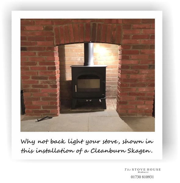 Cleanburn Skagen installation by The Stove House 01730 810931