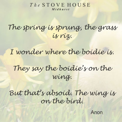 Spring Is Sprung The Stove House