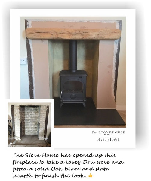 Dru Stove and Installation by The Stove House 01730 810931 www.thestovehouseltd.co.uk