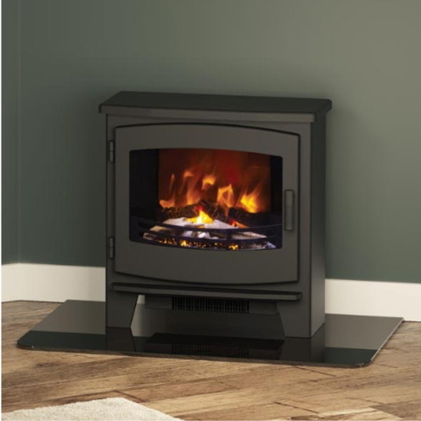 Broseley Evolution Black Beacon Electric Stove - Small & Large - The Stove House Midhurst Nr Chichester West Sussex
