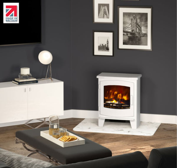 Broseley Evolution White Beacon Electric Stove - Small & Large - The Stove House Midhurst Nr Chichester West Sussex