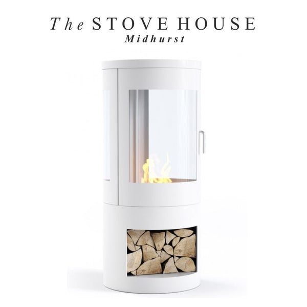 White Howarth Bioethanol Stove from The Stove House 01730 810931 www.thestovehouseltd.co.uk