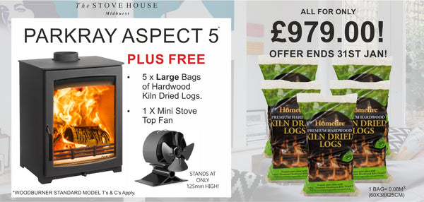 Parkray Aspect 5 Bundle Offer - The Stove House Midhurst Nr Chichester West Sussex