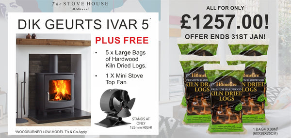 Dik Geurts Ivar 5 Low Bundle Offer - The Stove House Midhurst Nr Chichester West Sussex