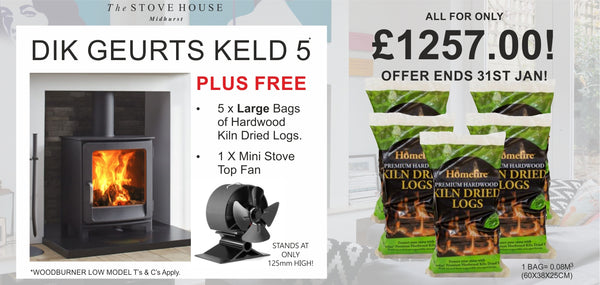 Dik Geurts Keld 5 Low Bundle Offer - The Stove House Midhurst Nr Chichester West Sussex
