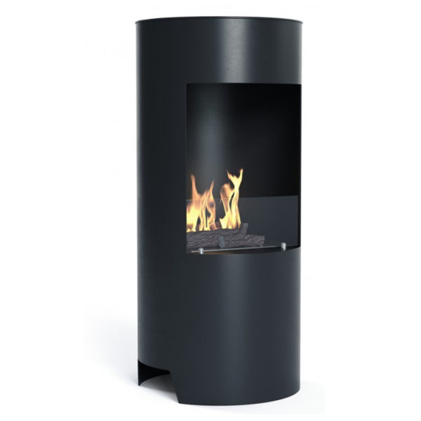 Black Stow Bioethanol Open Modern Stove - No Flue Required - The Stove House