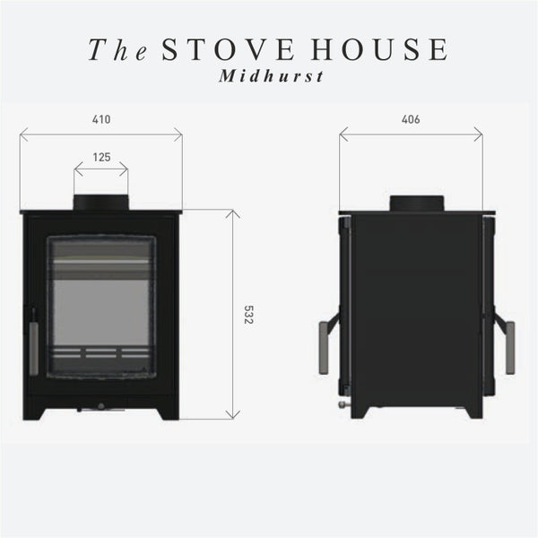 Parkray Aspect 4 Double Sided Single Depth - The Stove House Midhurst Nr Chichester West Sussex