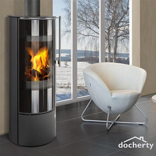 Docherty Avon Large Glass Modern Wood burner Stove Midhurst Chichester
