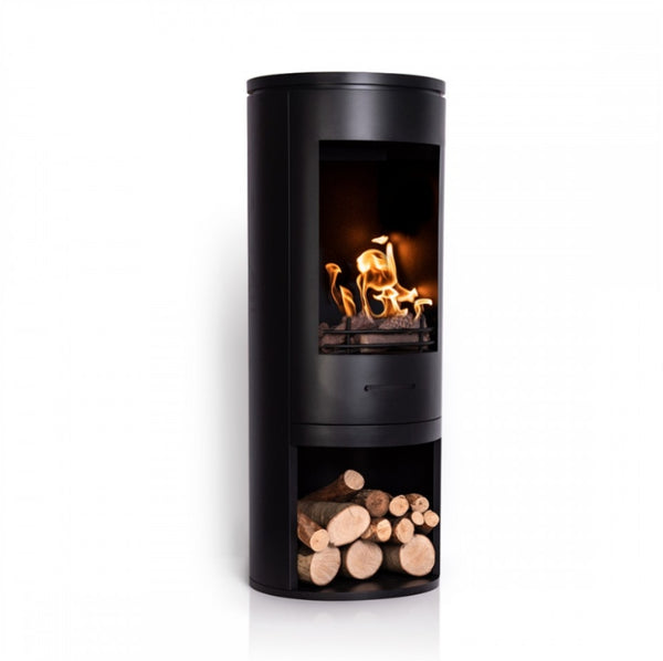 Black Modern Cylinder Bioethanol Stove - The Stove House Midhurst Nr Chichester West Sussex