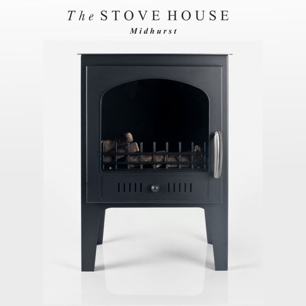 Bioethanol Traditional Black Stove / No Flue - The Stove House Midhurst Nr Chichester West Sussex