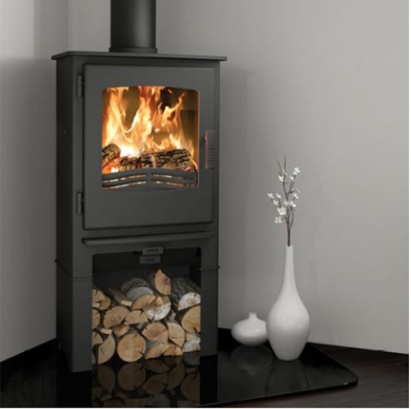 Broseley Desire 5 With Log Store - The Stove House Midhurst Nr Chichester West Sussex