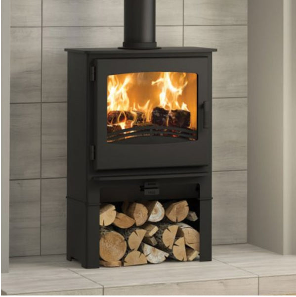 Broseley Desire 5 Widescreen Stove With Log Store - The Stove House Midhurst Nr Chichester West Sussex
