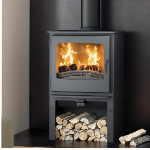 Broseley Desire 7 Log Store Multifuel Stove - The Stove House Midhurst Nr Chichester West Sussex