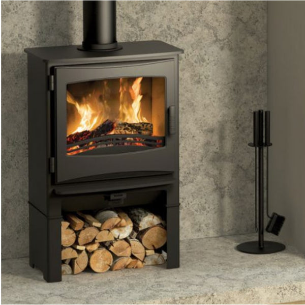Broseley Ignite 5 Widescreen Stove With Log Store - The Stove House Midhurst Nr Chichester West Sussex