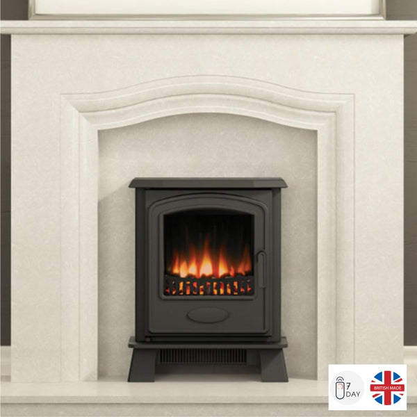 Broseley Hereford Inset Electric Stove - The Stove House Midhurst Nr Chichester West Sussex