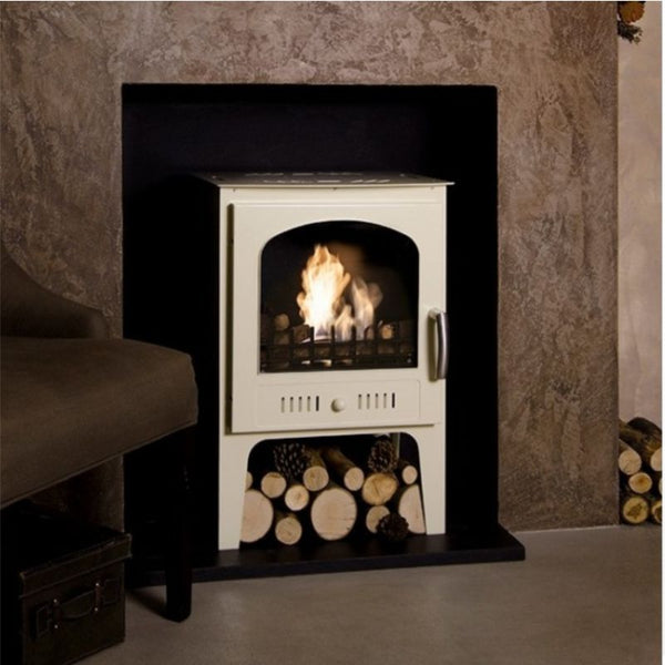 Bioethanol Traditional Cream Stove / No Flue - The Stove House Midhurst Nr Chichester West Sussex