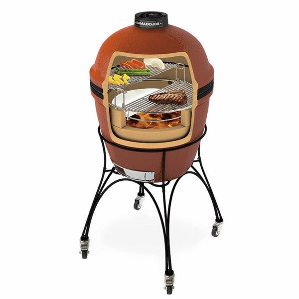 "Kamado Joe Classic 18"" Outdoor Ceramic Grill & Smoker - The Stove House Midhurst Nr Chichester West Sussex"