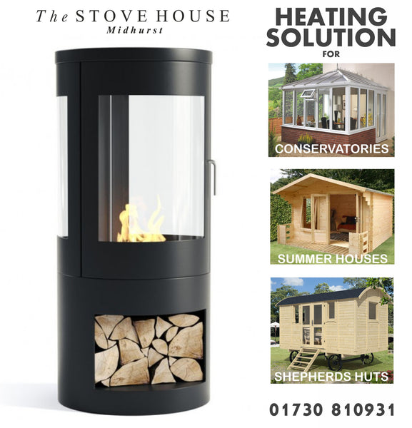 Bioethanol Modern Stove / No Flue - The Stove House Midhurst Nr Chichester West Sussex