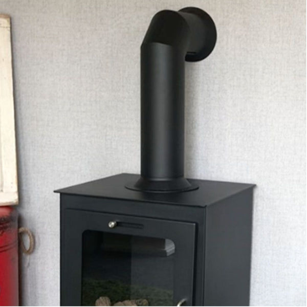 Bioethanol False Flue Pipe - Black / White Large - The Stove House Midhurst Nr Chichester West Sussex
