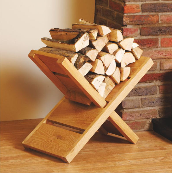 Oak Log Holder - The Stove House Midhurst Nr Chichester West Sussex