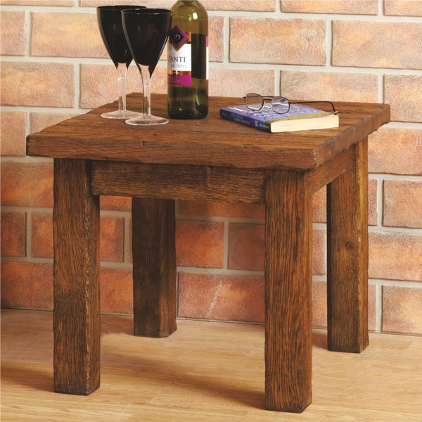Bespoke Aged Oak Side Table - The Stove House
