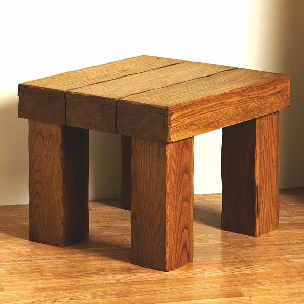 Bespoke Hollow Beam Oak Side Table - The Stove House