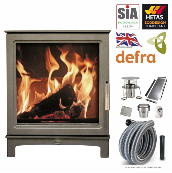 Grisedale 5kW Eco Design Ready Stove & Liner Package - The Stove House Midhurst Nr Chichester West Sussex